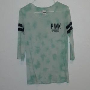 PINK 3/4 sleeve tie dye top